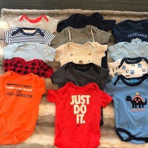 13 pc Infant Short Sleeved bundle - 3-6m